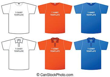 t-shirt, schablone