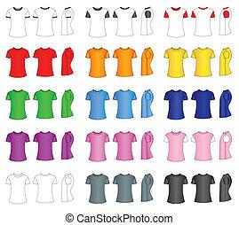 t-shirt, schablonen, männer