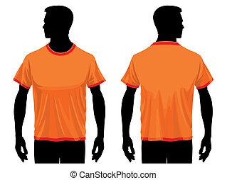 t-shirt, skabelon