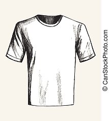 T-Shirt - Sketch illustration of a white t shirt
