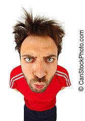t-shirt, super, expression, rouges