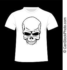 t-shirt, template., devant