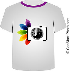 T Shirt Template- digital camera