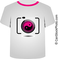 T Shirt Template- digital camera