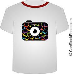 T Shirt Template-digital camera