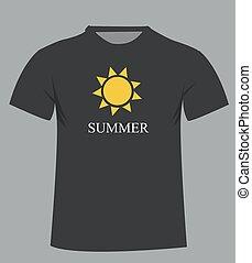 t-shirt, template., frente