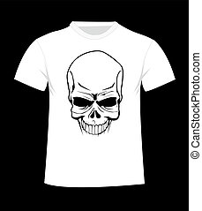 T-shirt template. Front