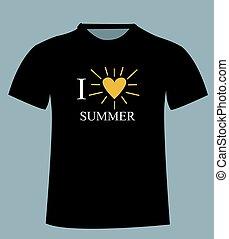 t-shirt, template., front