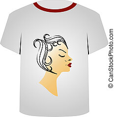 T Shirt Template- Hairstyle