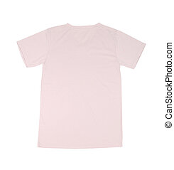 t-shirt template (back side) on white background