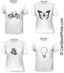 T-shirt template set for men and women.