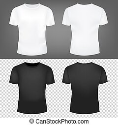 T-Shirt Template Set With Gradient Mesh, Vector Illustration