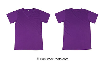 t-shirt template set(front, back) on white background