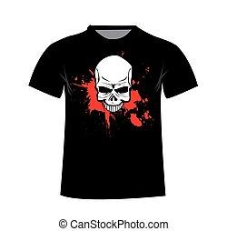 t-shirt, template., voorkant