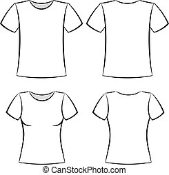 t-shirt template - White t-shirt blank template vector...