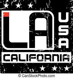 T shirt typography graphics Los Angeles California