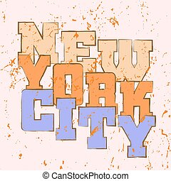 T shirt typography graphics New York athletic style