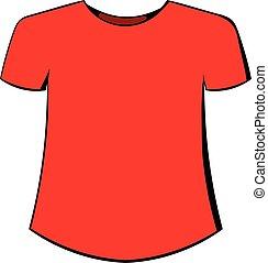 t-shirt, uomini, cartone animato, icona