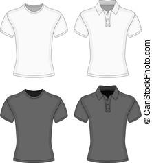 t-shirt, uomini, polo-shirt