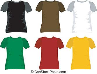 t-shirt, uomini, vettore