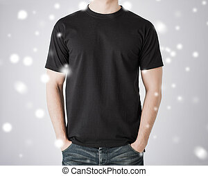 t-shirt, uomo, vuoto