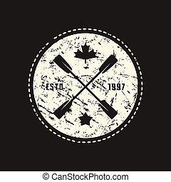 t-shirt, vecteur, emblème, stockage