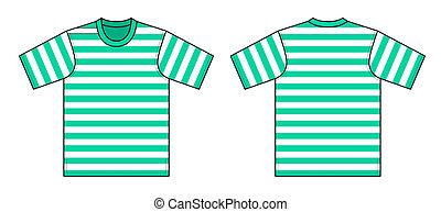 t-shirt, vektor, abbildung