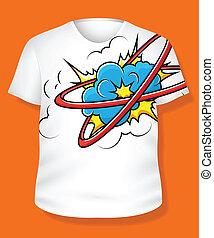 t-shirt, vetor, desenho
