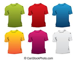 t-shirt, vetorial, modelo