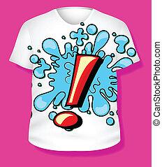 t-shirt, vetorial