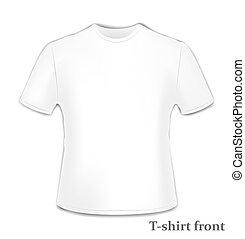 t-shirt, voorkant, bovenkant