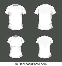 t-shirt, wektor, projektować, szablon