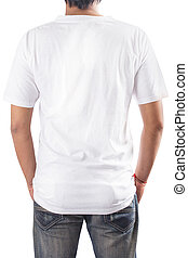T-Shirt - White t-shirt on a man