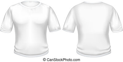 T-shirt white - The white t-shirt isolated on the white...