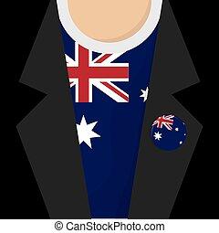 T-Shirt With Australia Flag Vector Illustration