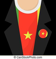 T-Shirt With Cameroon Flag Vector Illustration