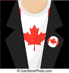 T-Shirt With Canada Flag Vector Illustration