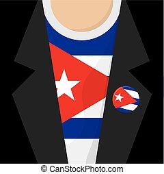 T-Shirt With Cuba Flag Vector Illustration