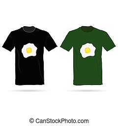 T-shirt with eggs vector illustration