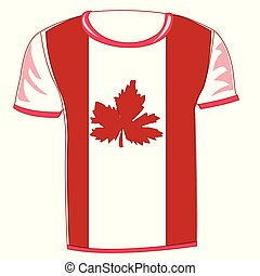 T-shirt with flag canada