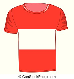 T-shirt with flag of the austria