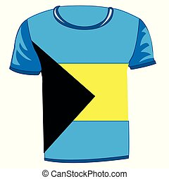 T-shirt with flag of the Bahamas