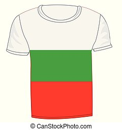 T-shirt with flag of the bulgaria