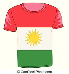 T-shirt with flag of the kurds