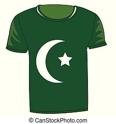 T-shirt with flag of the pakistan