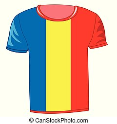 T-shirt with flag of the republic Fume