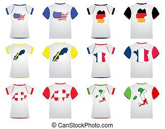 T-Shirt with flags