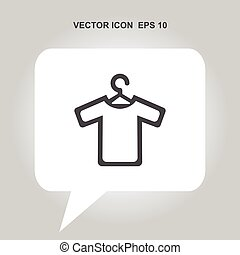 t-shirt with hanger vector icon