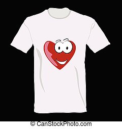 t-shirt with heart on it vector illustration