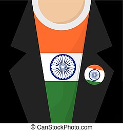 T-Shirt With India Flag Vector Illustration